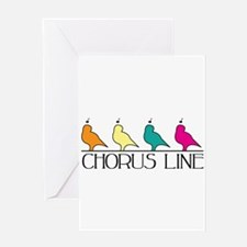 Chorus Line Greeting Cards