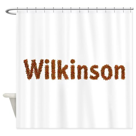 Wilkinson Fall Leaves Shower Curtain By Namestuff