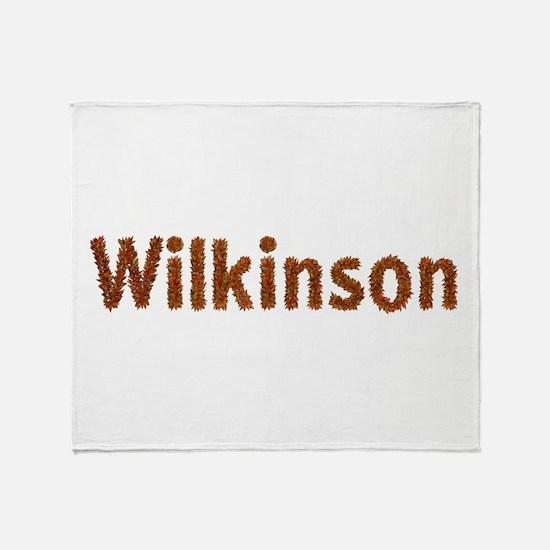 Wilkinson Fall Leaves Throw Blanket