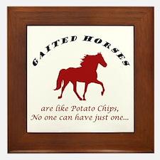Gaited Horses are like Potato Framed Tile