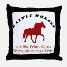 Gaited Horses are like Potato Throw Pillow