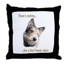 French Whine Throw Pillow