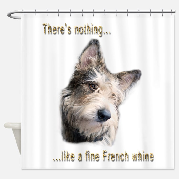 French Whine Shower Curtain