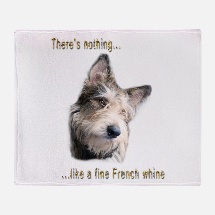 French Whine Throw Blanket