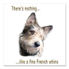 "French Whine Square Car Magnet 3"" x 3"""