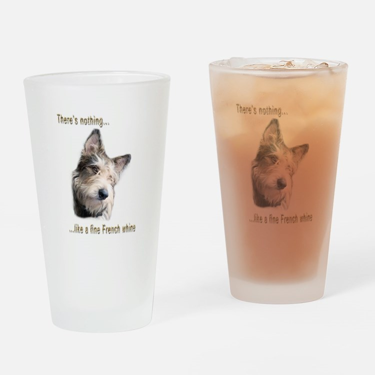 French Whine Drinking Glass