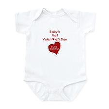 1st Valentines Love Grandma Infant Creeper