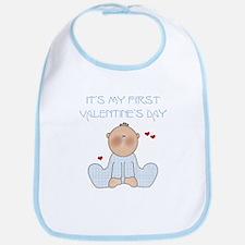 Baby Boy 1st Valentine's Day Bib