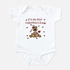 First Valentine's Boy Bear Infant Creeper