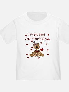 First Valentine's Boy Bear T