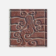 "Terra Cota Tile Art Realism Square Sticker 3"" x 3"""