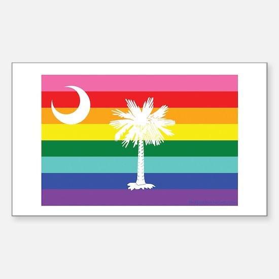 South Carolina equality flag Decal