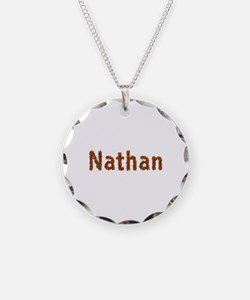 Nathan Fall Leaves Necklace Circle Charm