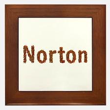 Norton Fall Leaves Framed Tile