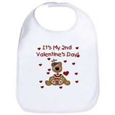 2nd Valentine's Boy Bear Bib