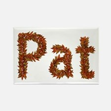 Pat Fall Leaves Rectangle Magnet