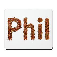 Phil Fall Leaves Mousepad