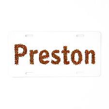 Preston Fall Leaves Aluminum License Plate