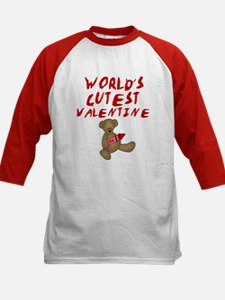 World's Cutest Valentine Kids Baseball Jersey