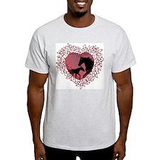 MareNFoal Heart Ash Grey T-Shirt