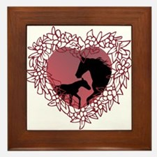MareNFoal Heart Framed Tile
