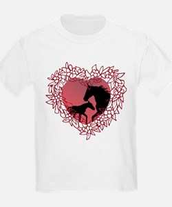 MareNFoal Heart Kids T-Shirt