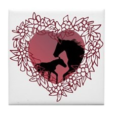 MareNFoal Heart Tile Coaster