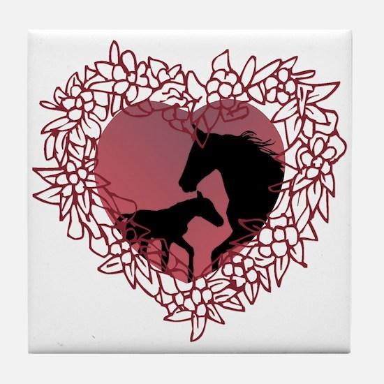 MareNFoal Heart Tile Coaster