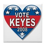 Vote Alan Keyes 2008 Political Tile Coaster