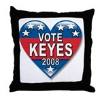 Vote Alan Keyes 2008 Political Throw Pillow