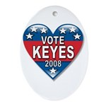 Vote Alan Keyes 2008 Political Oval Ornament