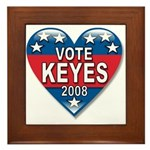 Vote Alan Keyes 2008 Political Framed Tile