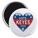 "Vote Alan Keyes 2008 Political 2.25"" Magnet (10 pa"
