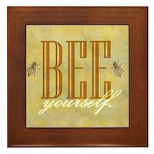 bee yourself Framed Tile