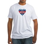 Vote Alan Keyes 2008 Political Fitted T-Shirt