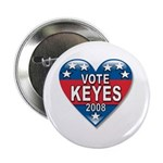 Vote Alan Keyes 2008 Political Button