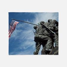 Iwo Jima's Glory Throw Blanket