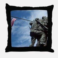 Iwo Jima's Glory Throw Pillow