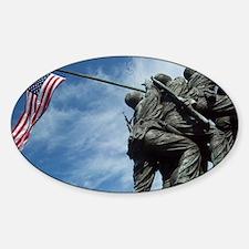 Iwo Jima's Glory Sticker (Oval)