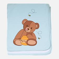 Teddy Bear and Honey baby blanket