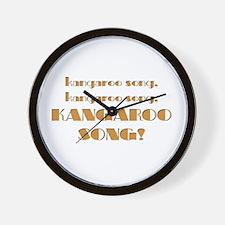 Kangaroo song Wall Clock