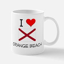 I Love Orange Beach Alabama Mugs