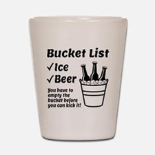 Bucket List Shot Glass