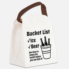 Bucket List Canvas Lunch Bag