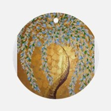 gold tree Ornament (Round)