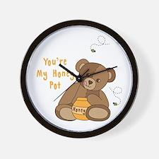 Youre My Honey Pot Wall Clock