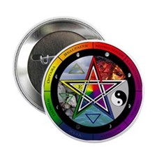 "Pentacle Wheel of the Year 2.25"" Button"