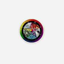 Pentacle Wheel of the Year Mini Button