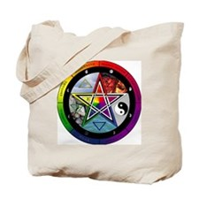 Pentacle Wheel of the Year Tote Bag