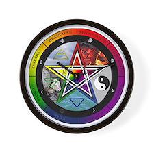 Pentacle Wheel of the Year Wall Clock